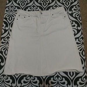 GAP White Jean Skirt Sz 16
